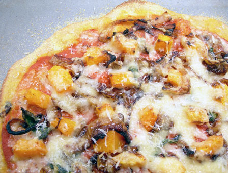 squash and sage pizza