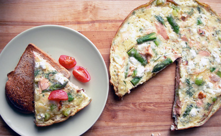 frittata on plate