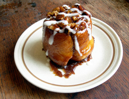 sticky bun on plate