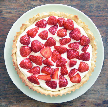 strawberry and marscapone tart