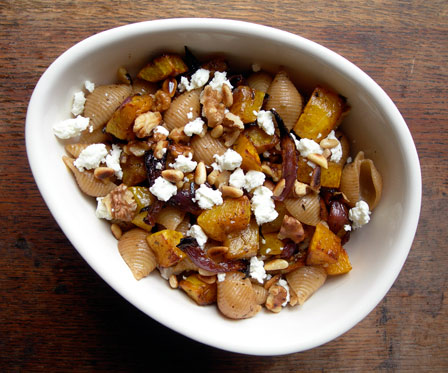 Roasted Squash with Whole Wheat Pasta