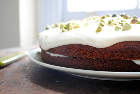 Coffee-Ginger-Pistachio Cake