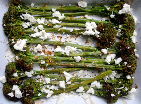 Roast Broccoli with Lemon and Cheese