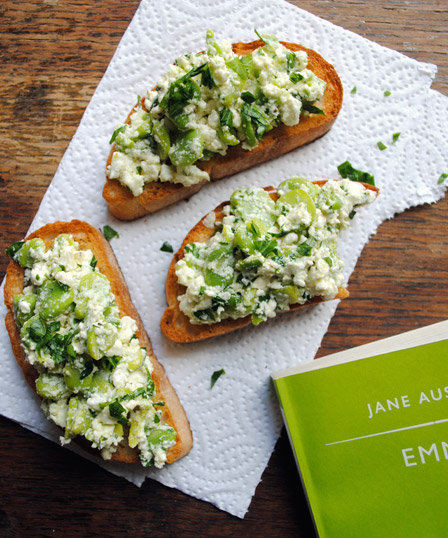 Broad Bean and Feta Bruschetta