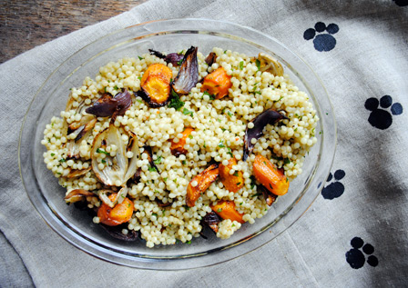 Toasted Cous Cous with Roast Veg