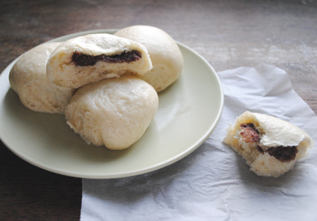 New year, new plans: Steamed Buns with Red Bean Paste ...