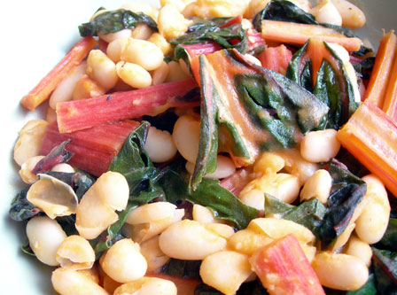 chard-beans-close
