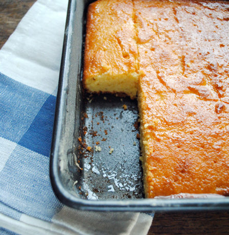 Heres one I made earlier: Cypriot Semolina Cake