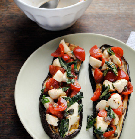 More of the same: Tricolore Eggplant Bruschetta