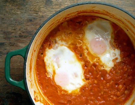 Breakfast or bust: Eggs in a Spicy Chickpea Purgatory