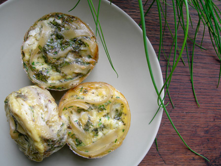 The Mother of Invention: Muffin-cup Frittatas with Pasta, Feta and Mint