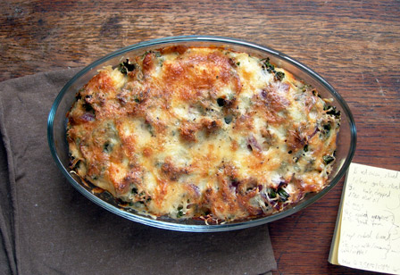 Table for two: Red Onion, Kale and Cheese Strata