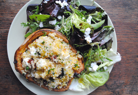 Presentation time: Squash Boats with Quinoa Salad