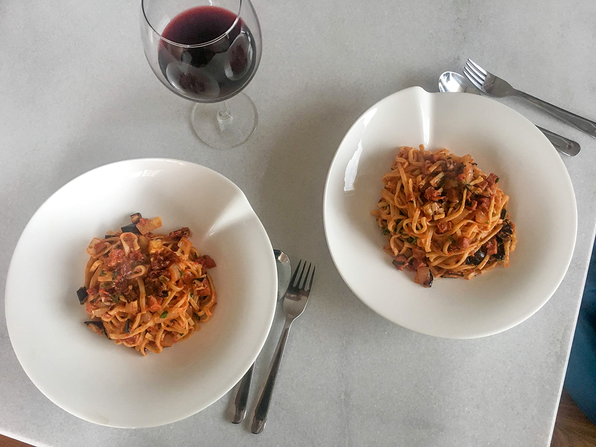 Chorizo Aubergine Pasta Recipe