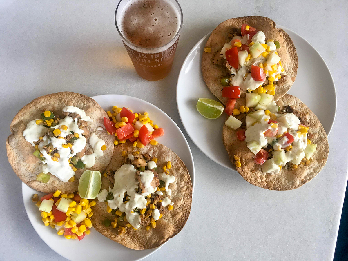 Jerk Chicken Tostadas Recipe